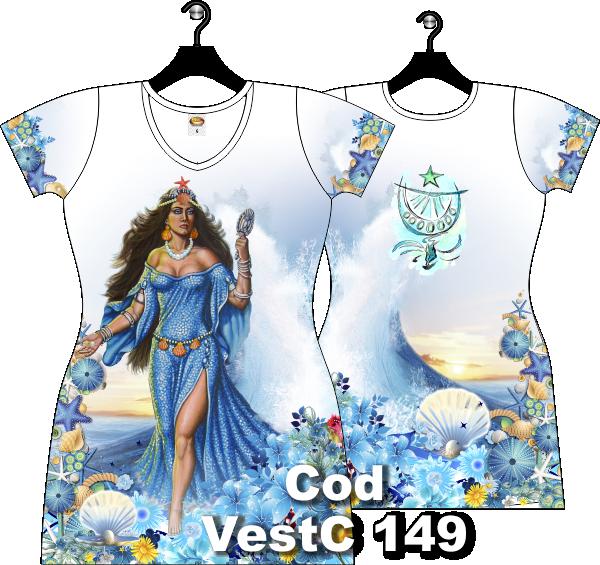 Vestido Curto de Yemanjá