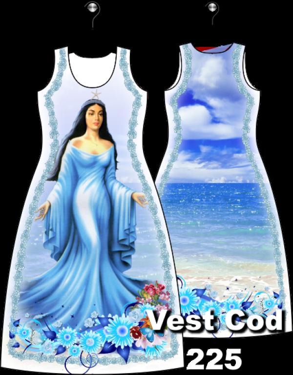 Vestido Longo com Yemanja